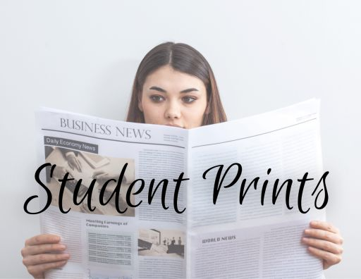 Hot off the press! Student Prints, Winter 2021