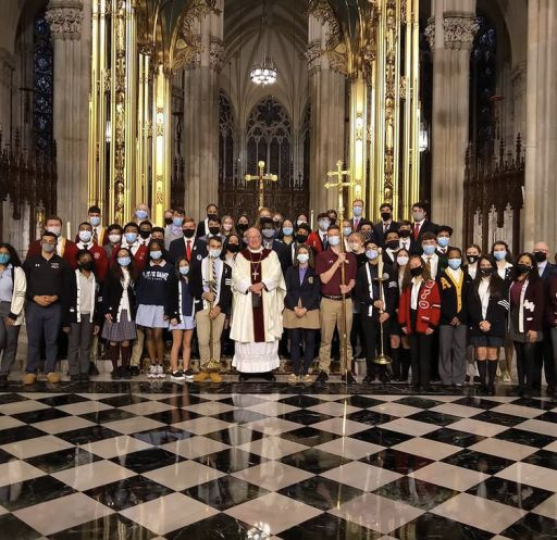 D.A. Seniors attend Mass with Cardinal Dolan